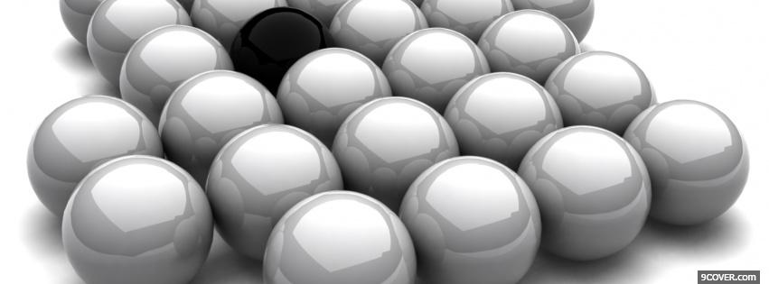 Photo one black ball creative Facebook Cover for Free
