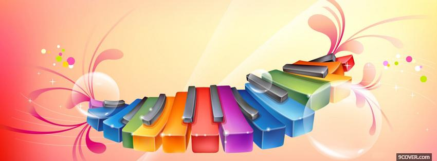 Photo colorful piano creative Facebook Cover for Free