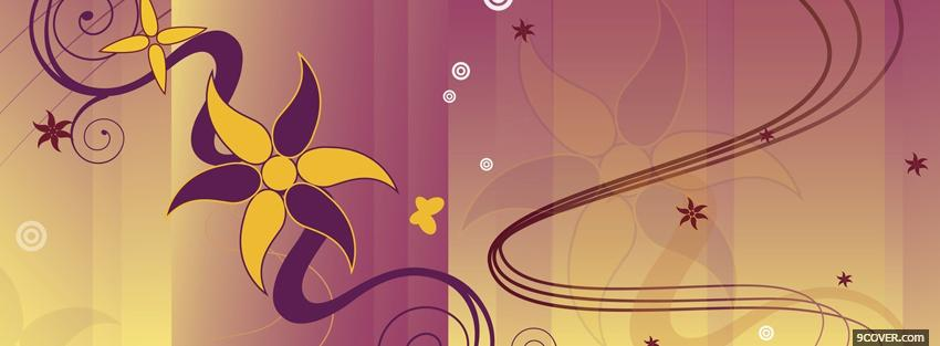 Photo purple yellow flower creative Facebook Cover for Free