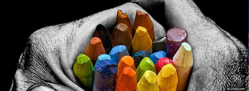Photo crayons colors creative Facebook Cover for Free