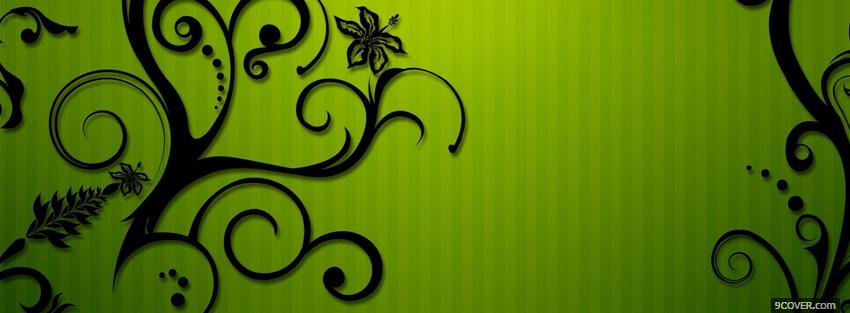 Photo lime green backround creative Facebook Cover for Free