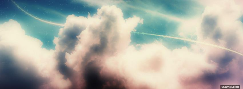 Photo thick clouds creative Facebook Cover for Free