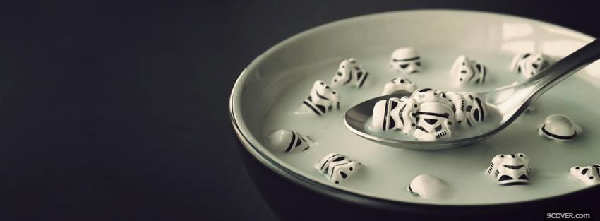 Photo stormtrooper cereal creative Facebook Cover for Free