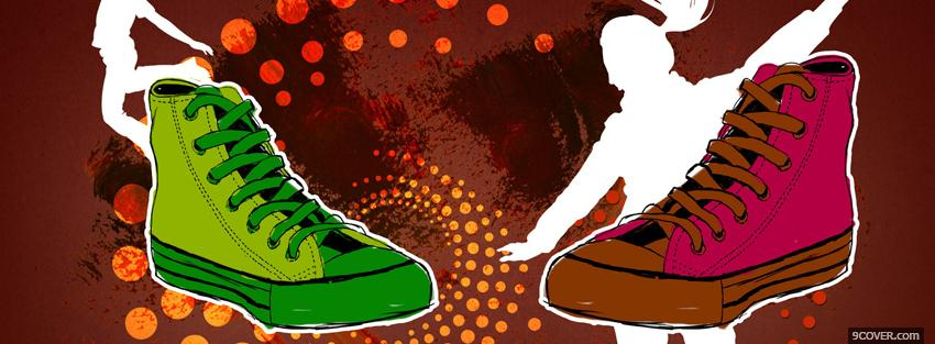 Photo dancing shoes creative Facebook Cover for Free