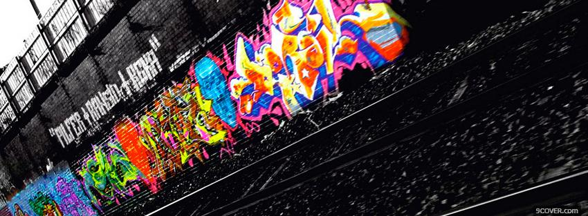 Photo street grafiti creative Facebook Cover for Free