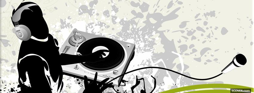 Photo dj playing music creative Facebook Cover for Free