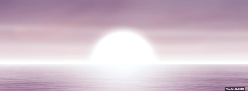 Photo purple sea sunset creative Facebook Cover for Free