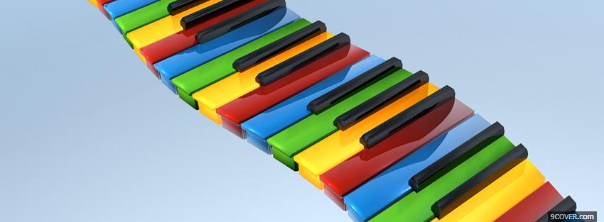Photo rainbow piano creative Facebook Cover for Free