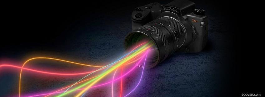 Photo camera colors creative Facebook Cover for Free
