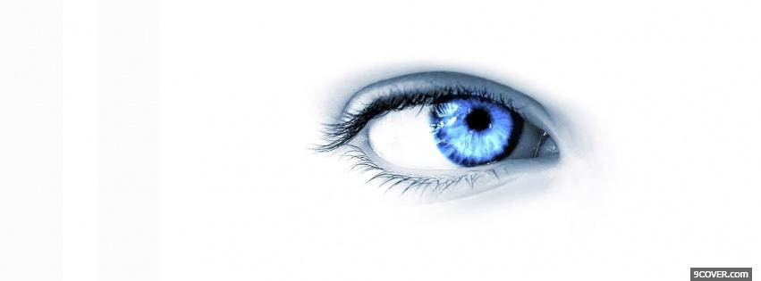 Photo intense blue eye creative Facebook Cover for Free