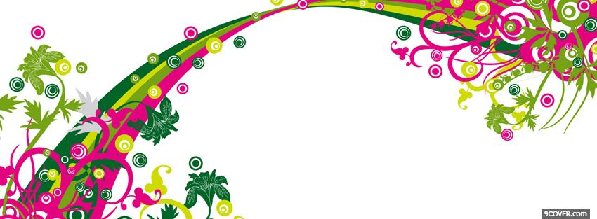 Photo flower power creative Facebook Cover for Free