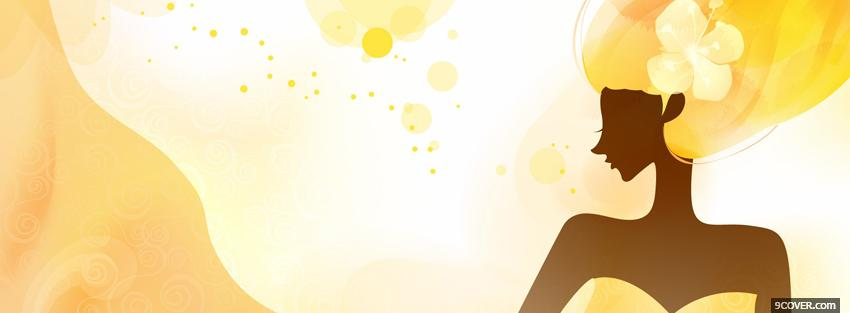 Photo yellow woman creative Facebook Cover for Free