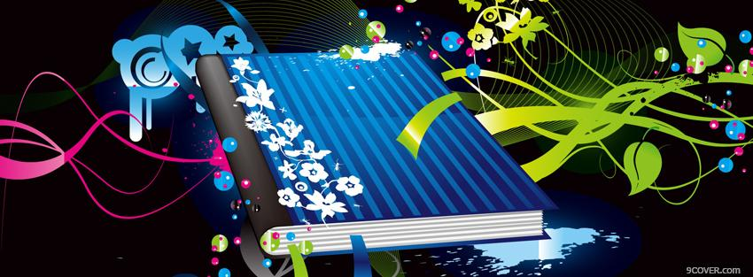 Photo magical notebook creative Facebook Cover for Free