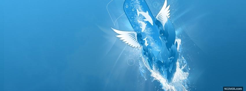 Photo dolphins creative Facebook Cover for Free