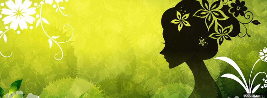 Photo green girl creative Facebook Cover for Free