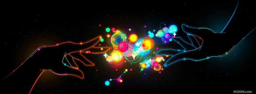 Photo electric touch creative Facebook Cover for Free