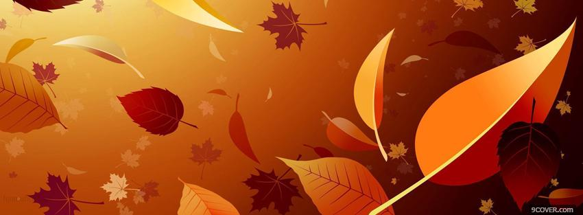 Photo falling leaves creative Facebook Cover for Free