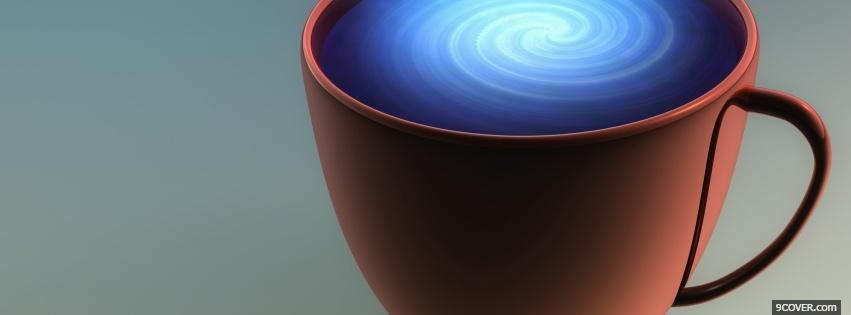 Photo coffee blue spiral creative Facebook Cover for Free