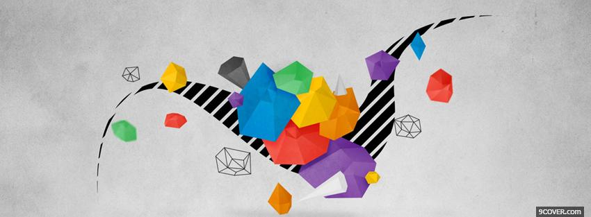 Photo lines and shapes creative Facebook Cover for Free