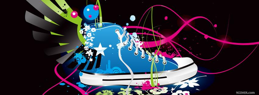 Photo shoe creative explosion Facebook Cover for Free