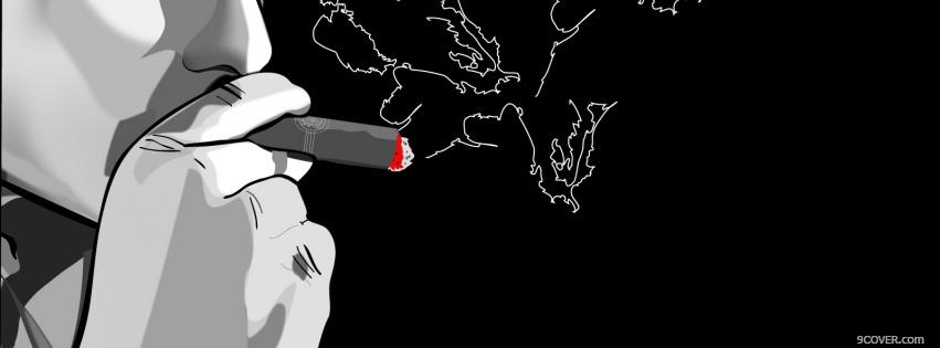 Photo smoking a map creative Facebook Cover for Free