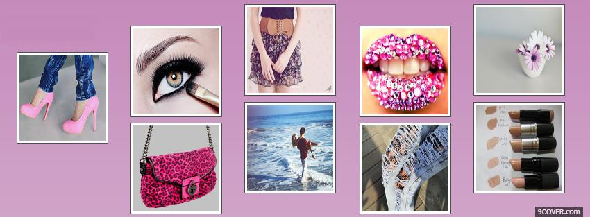 Photo beauty girl creative Facebook Cover for Free