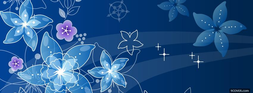 Photo flying flowers creative Facebook Cover for Free
