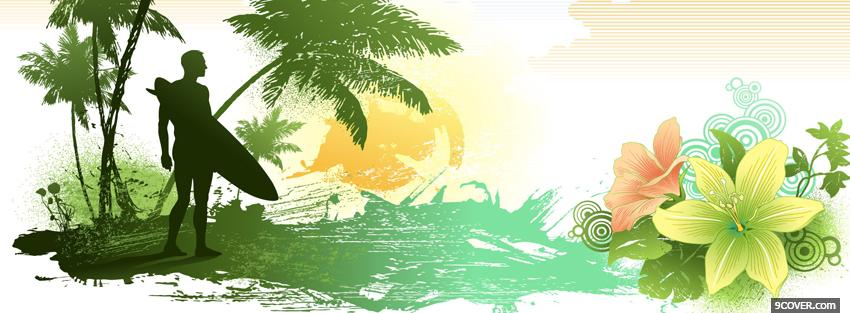Photo land in paradise creative Facebook Cover for Free