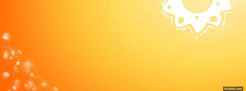 Photo sunny orange creative Facebook Cover for Free