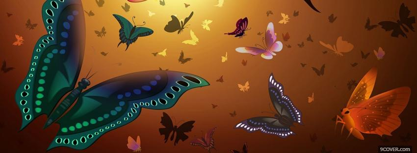 Photo butterflies creative Facebook Cover for Free