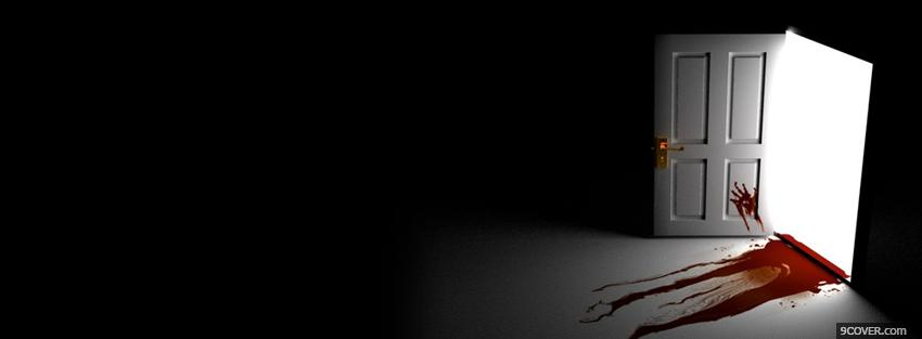Photo blood door creative Facebook Cover for Free