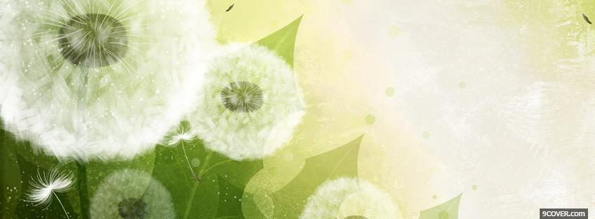 Photo dandelions creative Facebook Cover for Free