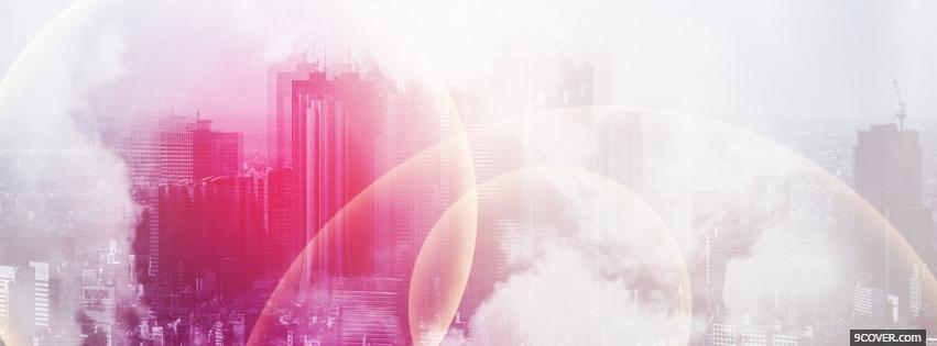 Photo pink city creative Facebook Cover for Free