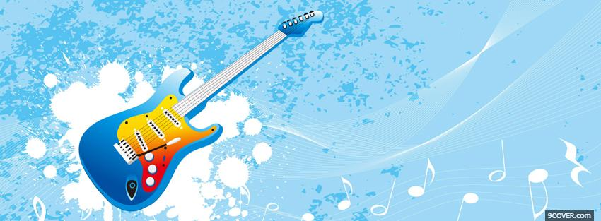 Photo guitar and music creative Facebook Cover for Free