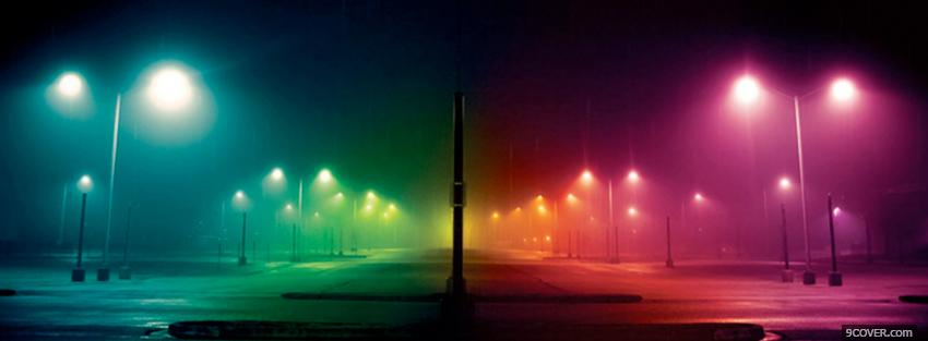 Photo street lights creative Facebook Cover for Free