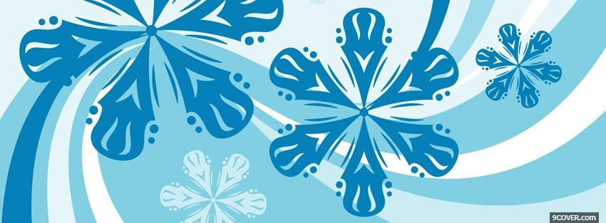 Photo blue snowflakes creative Facebook Cover for Free
