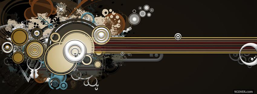 Photo guitar music creative Facebook Cover for Free