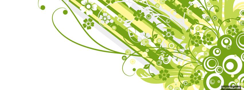 Photo green explosion creative Facebook Cover for Free