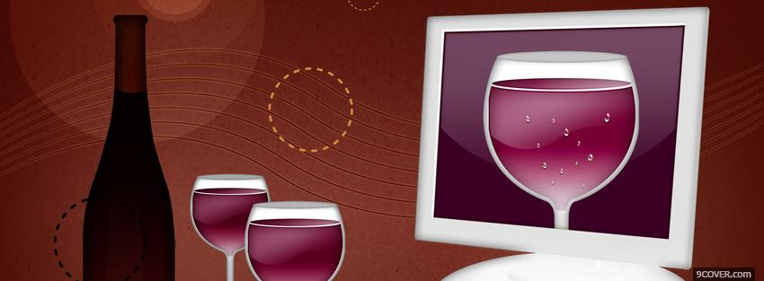 Photo wine and glasses creative Facebook Cover for Free
