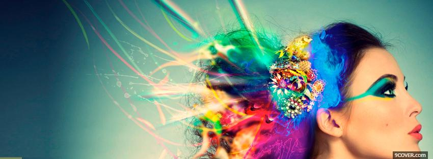 Photo creative hair colors Facebook Cover for Free