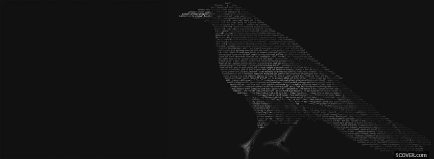 Photo grey bird creative Facebook Cover for Free