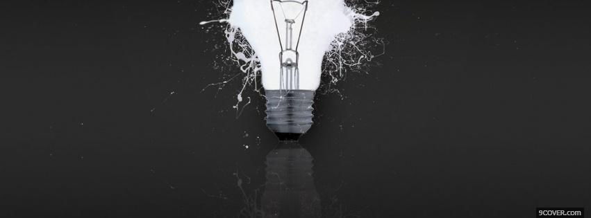 Photo light bulb creative Facebook Cover for Free