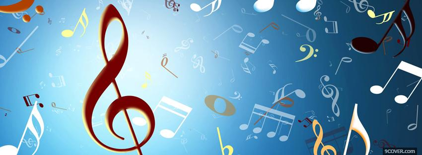 Photo music notes creative Facebook Cover for Free