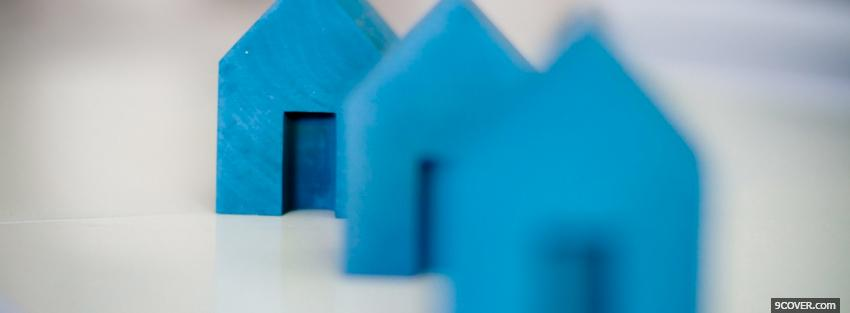 Photo blue houses creative Facebook Cover for Free