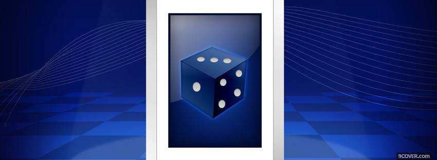 Photo blue dice creative Facebook Cover for Free