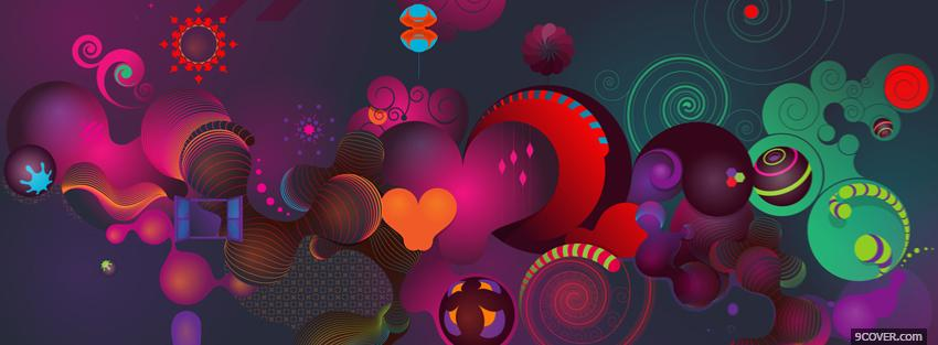 Photo fun shapes creative Facebook Cover for Free