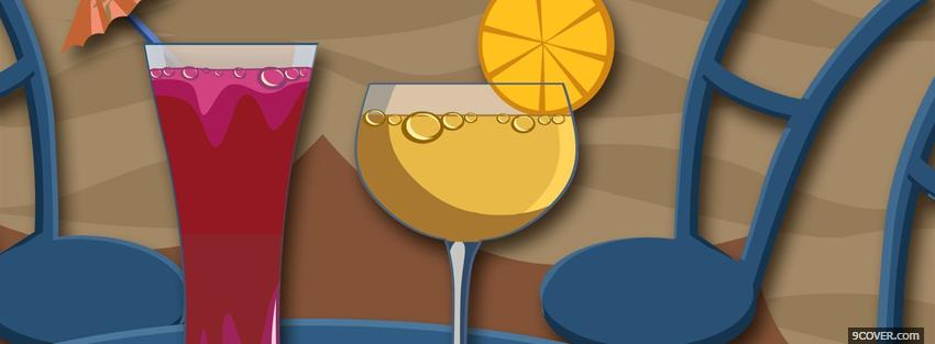 Photo alcoholic drinks creative Facebook Cover for Free