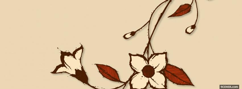 Photo beige flowers creative Facebook Cover for Free