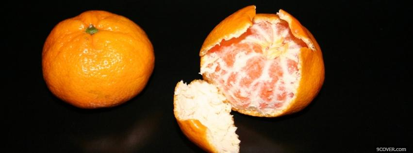 Photo peeled orange food Facebook Cover for Free