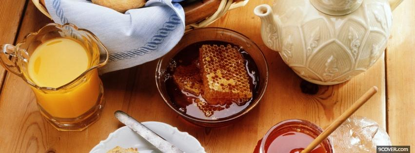 Photo honey breakfast food Facebook Cover for Free